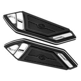 Performance Machine Superlight Passenger Boards For Harley 0036-1015-BM Black