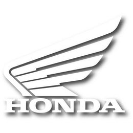 White Factory Effex Decal For Honda Wing Logo 3-pack