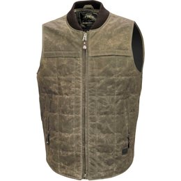 RSD Mens Quilted Cotton Vest Brown