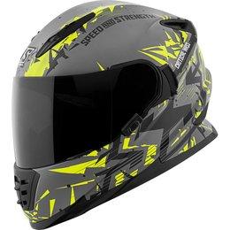 Speed & Strength SS1600 Critical Mass Full Face Motorcycle Helmet Grey
