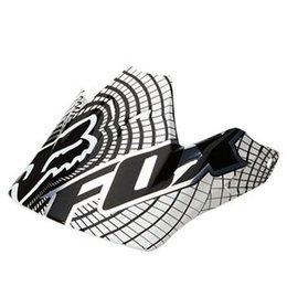 White, Black Fox Racing Replacement Visor For V3 Vortex Helmet White Black