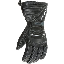 HJC Mens Cold Weather Leather Motorcycle Riding Gloves Black