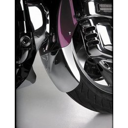 Chrome Show Front Fender Extension With Brace Taper For Honda Gl1800