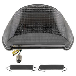 Bikemaster Integrated LED Tail Light Smoke Lens For Kawasaki TZK-058-INT-S Grey
