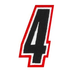 Red American Kargo 5 Inch Number #4 Four Patch 2014