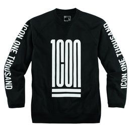 Icon Mens 1000 Collection Traptastic Crew Neck Fleece Sweatshirt Black