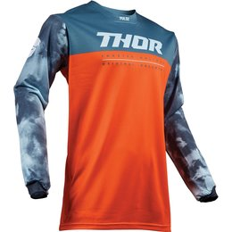 Thor Youth Boys Pulse Air Acid Jersey Orange