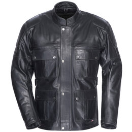 Black Tour Master Lawndale Leather Jacket