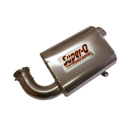Skinz Super-Q Performance Exhaust Silencer Ski-Doo Snowmobiles Silver SQ-4408C Silver