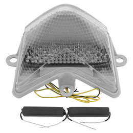 Bikemaster Integrated LED Tail Light Clear Lens For Kawasaki TZK-140-INT Transparent