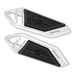 Performance Machine Superlight Passenger Boards For Harley Chrome 0036-1015-CH Unpainted