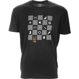 Fly Racing Mens Checkers Premium T-Shirt Black