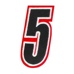 Red American Kargo 5 Inch Number #5 Five Patch 2014