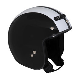 Z1R Jimmy Retro 2 Open Face 3/4 Motorcycle Helmet With Snaps Black