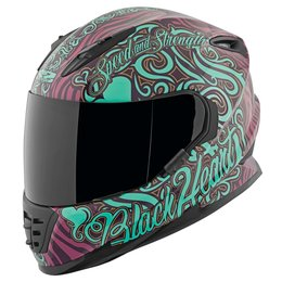 Speed & Strength Womens Black Heart Full Face Helmet Purple