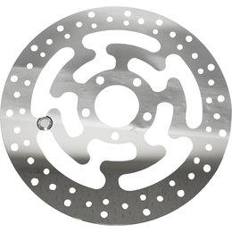 HardDrive Front Left 11.8 Inch Diameter Brake Rotor For Harley Polished 11-057 Silver