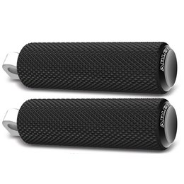 Black Arlen Ness Footpegs Knurled Fusion For Harley Davidson All