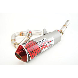 Stainless Steel Header, Stainless Steel Midpipe, Titanium Muffler Big Gun Evo Race Complete System Exhaust Stainless Titanium For Yam Raptor 125