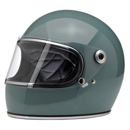Biltwell Gringo Full Face Helmet Blue