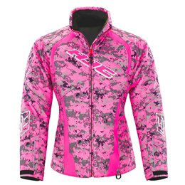 HJC Womens Camo Storm Snowmobile Jacket Pink