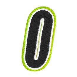 Hi-vis American Kargo 5 Inch Number #0 Zero Patch 2014