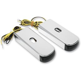 Aluminum Body/amber Led/smoke Lens Alloy Art Led Fender Marker Lights Aluminum Amber Smoke Softail