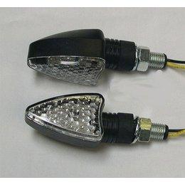 Black Bodies, Clear Lenses Dmp Led Marker Lights 3v Arrow Black Clear