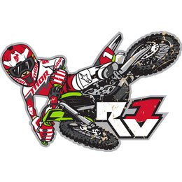 Red Thor Ryan Villipoto Rv1 Sticker Decal 2015