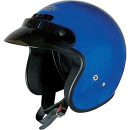 Blue Gmax Youth Gm2y Open Face Helmet