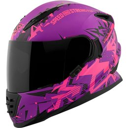 Speed & Strength Womens SS1600 Critical Mass Full Face Motorcycle Helmet Pink