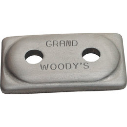 Woody's Double Grand Digger Aluminum Support Plates 5/16 IN 48-PK ADG-3775-48 Unpainted