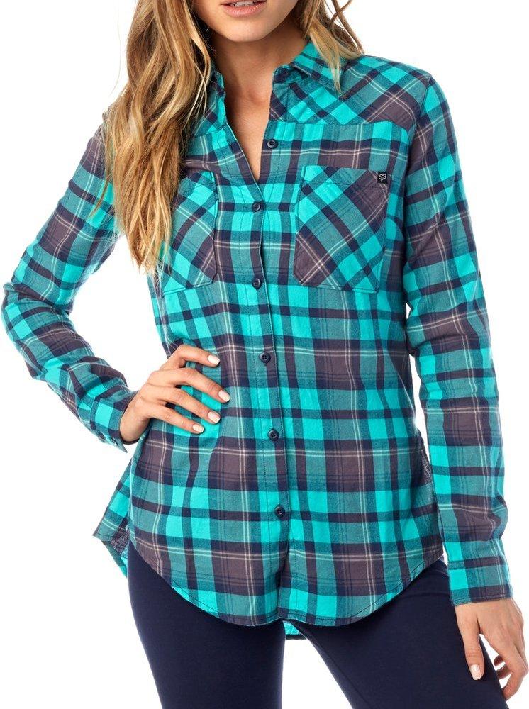 $39.50 Fox Racing Womens Long Sleeve Flown Flannel #993882
