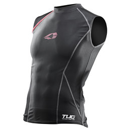 Black, Red Evs Mens Tug Sleeveless Compression Shirt 2013 Black Red