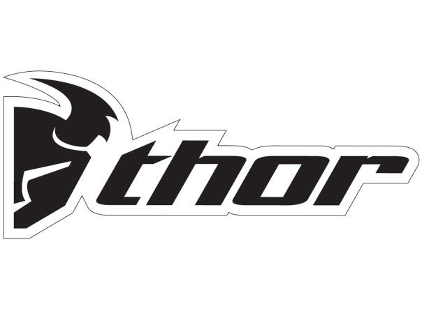 10 00 thor logo van trailer decal black white 36 inch 210096 rh ridersdiscount com Thor Racing Logo Thor Racing Backgrounds