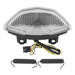 Bikemaster Integrated LED Tail Light Clear Lens For Kawasaki Z1000 TZK-306-INT Transparent