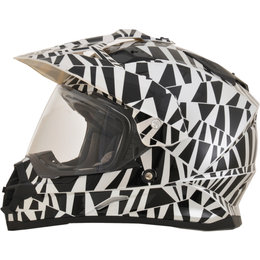 AFX FX39 Dazzle Full Face Dual Sport Helmet Silver