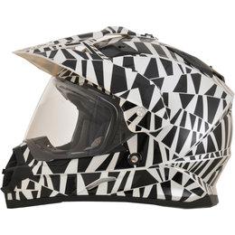 AFX FX39 Dazzle Full Face Dual Sport Helmet Silver