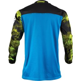 Thor Youth Boys Pulse Air Acid Jersey Blue