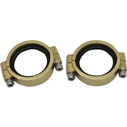 HardDrive Intake Clamp Set Heavy-Duty For Harley-Davidson Brass 061210 Unpainted