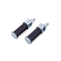 Black Bikemaster Screw-in Buddy Footpegs 12mm Universal