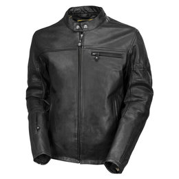 RSD Mens Ronin Leather Riding Jacket Black