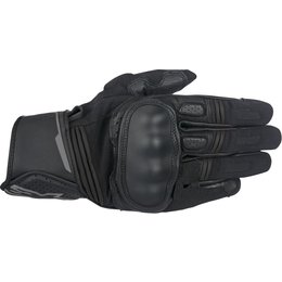 Alpinestars Mens Booster Leather Gloves Black