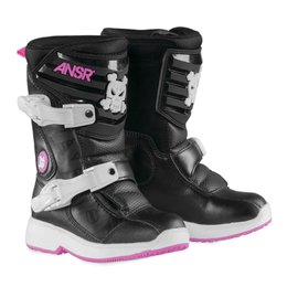 Answer Pee Wee Girls Motocross MX Riding Boots Black