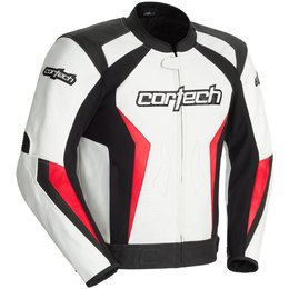 White, Red Cortech Mens Latigo 2.0 Leather Jacket 2014 White Red