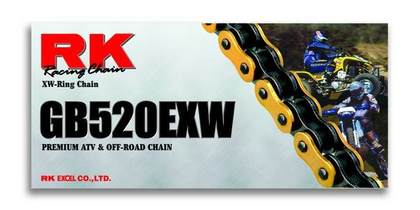 RK Racing Chain GB520EXW-114 114-Links Gold XW-Ring Chain with Connecting Link