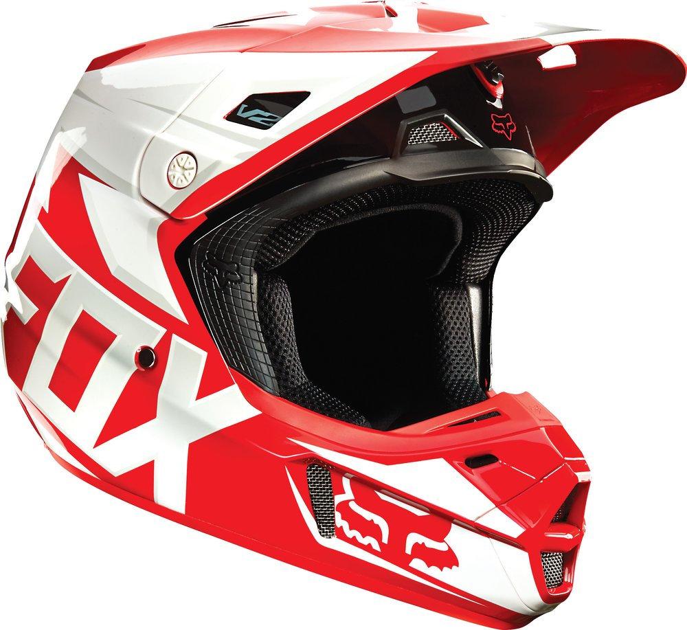 fox racing v2 race mx helmet 199172. Black Bedroom Furniture Sets. Home Design Ideas
