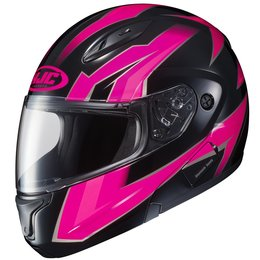 HJC Womens CL-Max II 2 Ridge Modular Helmet With Flip Up Chin Bar Pink