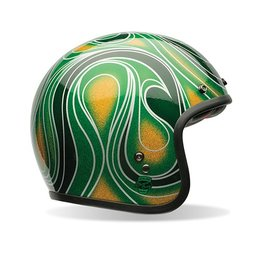 Chemical Candy Mean Green Bell Powersports Custom 500 Open Face Helmet