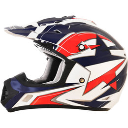 AFX FX17 Lone Star Solid Motocross Helmet Red