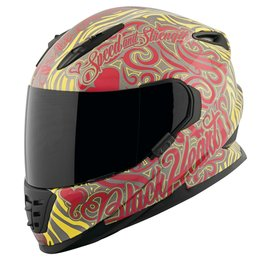 Speed & Strength Womens Black Heart Full Face Helmet Red